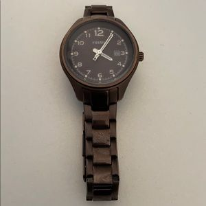 FOSSIL AM4383 Flight Stainless Steel Brown Watch